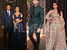 Kartik Aaryan, Parineeti Chopra, Rajkummar Rao at NickYanka's reception