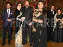 Anil Kapoor, Sanjay Dutt and others arrive at the DeepVeer reception