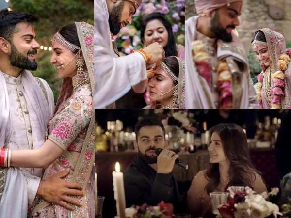 Check out Virat Kohli and Anushka Sharma's new wedding pictures and video