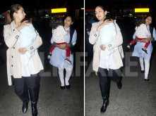 Mira Kapoor spotted at the airport with Misha and Zain Kapoor