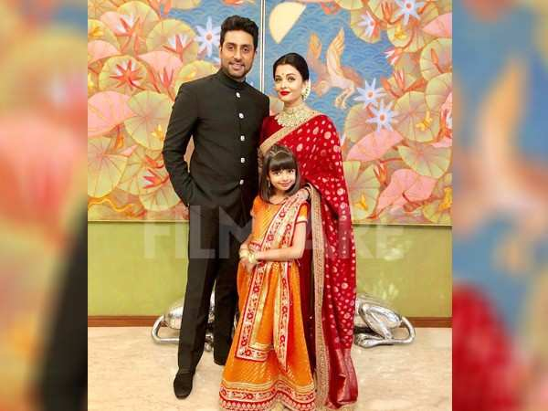 Aishwarya Rai and Abhishek Bachchan make for a picture perfect family