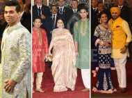Karan Johar, Sachin Tendulkar, Harbhajan Singh attend Isha Ambani's wedding