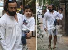 Saif Ali Khan enjoys his off-duty time with Taimur Ali Khan