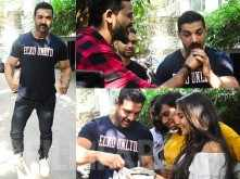 John Abraham celebrates his birthday with his fans in Mumbai
