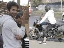 Check out Shahid Kapoor's uber cool ride for the day