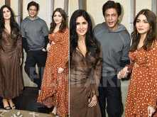 Shah Rukh Khan, Anushka and Katrina clicked during Zero promotions