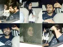 Ananya Pandey and Kartik Aaryan clicked post their dinner outing together