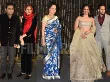 Hema Malini, A R Rahman, Saina Nehwal arrive at Nickyanka's reception