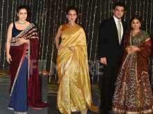 Kajol, Kangana Ranaut, Jeetendra, Vidya Balan at Nickyanka's reception