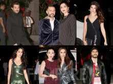 Arjun Kapoor, Sonam Kapoor, Janhvi Kapoor at Anil Kapoor's birthday bash