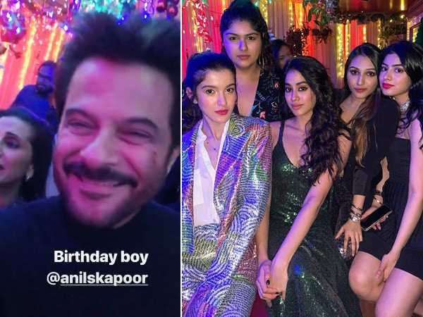 Here are all the inside pictures & videos from Anil Kapoor's birthday party