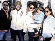 Saif, Kareena and Taimur Ali Khan enjoy the winter sun in London
