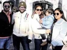 Saif, Kareena and Taimur Ali Khan enjoy the winter sun in London