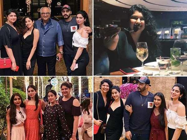 Here's how Arjun, Janhvi and Khushi Kapoor celebrated Anushla's birthday