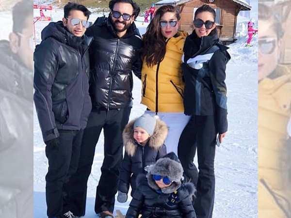 Kareena Kapoor, Saif Ali Khan and Taimur enjoy the snow in Switzerland