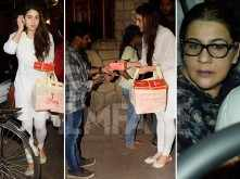 After Simmba's success, Sara Ali Khan distributes sweets outside a temple
