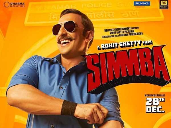 Ranveer Singh reacts to Simmba's phenomenal start at the box-office
