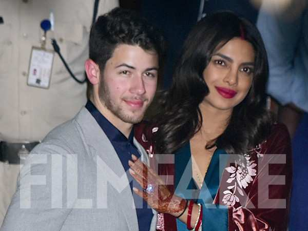 Priyanka Chopra and Nick Jonas arrive in Mumbai ahead of their reception