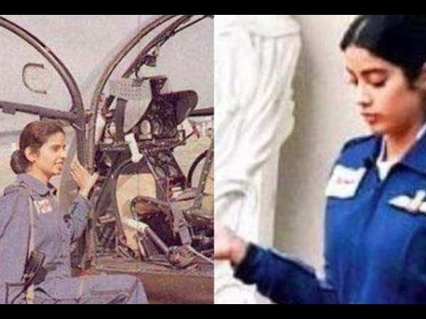 Janhvi Kapoor's first look from Gunjan Saxena biopic revealed