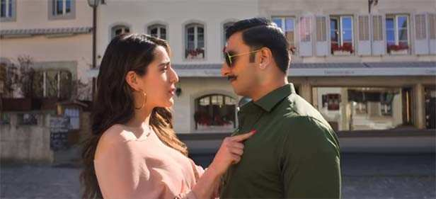 The latest entrant of Bollywood, Sara Ali Khan, and B-town's powerhouse Ranveer Singh are all set to impress the audience with their chemistry in Rohit Shetty's Simmba. The film hits the theatres on 28th December this year and with the trailer creating a mega buzz all over the country, we are sure this one will entertain the audience.  And today the makers of the film released a romantic number from Simmba's jukebox titled Tere Bin.   Sung by Rahat Fateh Ali Khan, Asees Kaur and Tanishk Bagchi and written by Rashmi Virag, the song has been shot in picturesque locations of Switzerland. Sara and Ranveer's chemistry is easy on the eyes. The duo has come together for the first time and after their dance track Ankh Marey became a rage overnight, this soulful track comes as a breath of fresh air. If you haven't heard the song yet, check it out right here.