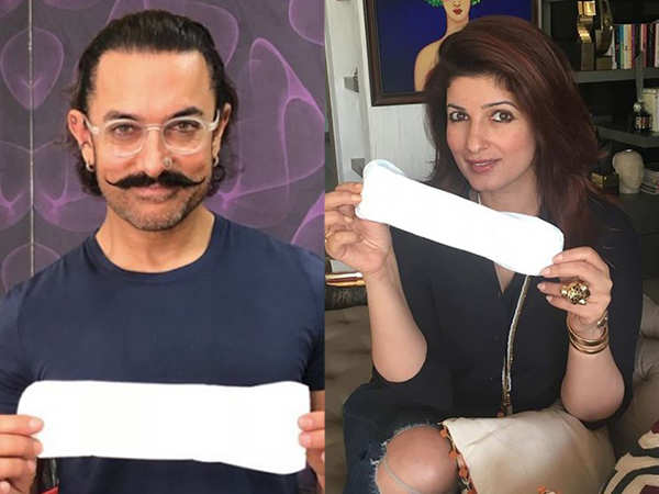 Aamir Khan takes up Twinkle Khanna's challenge of normalizing a sanitary pad