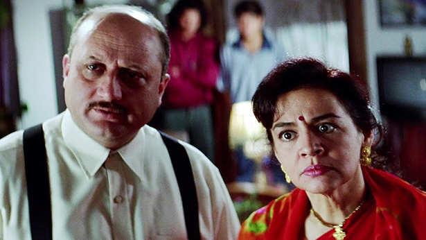 Anupam Kher, Farida Jalal