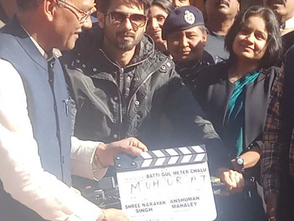 Shahid Kapoor begins shooting for his next Batti Gul Meter Chalu