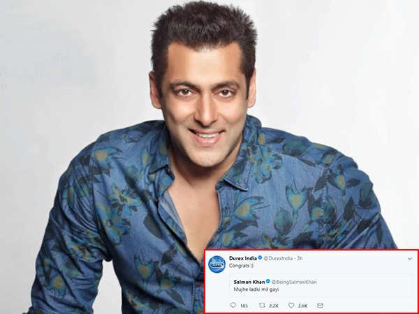 Hilarious! A condom brand has the best response to Salman Khan's 'ladki mil gai' tweet