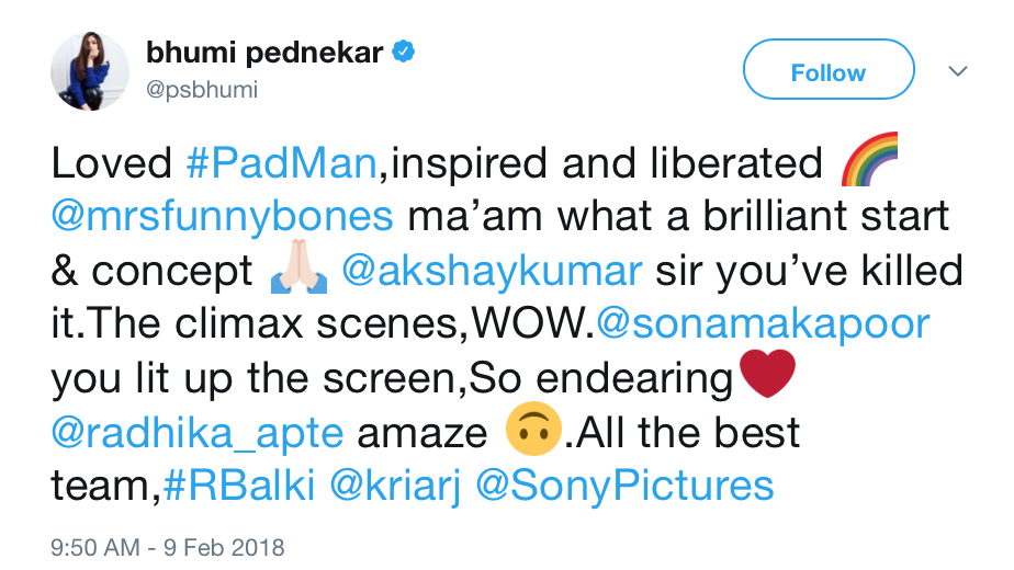 Here is how the Internet reacted to Pad Man