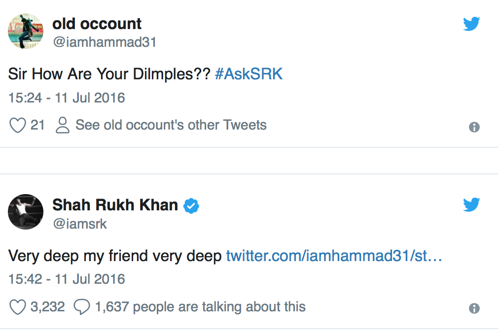 We list down the best of Shah Rukh Khan on Twitter