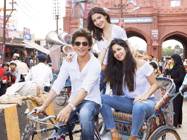 Shah Rukh Khan shares a lovely picture with Katrina Kaif and Anushka Sharma from the sets of Zero