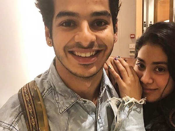 Ishaan Khatter and Janhvi Kapoor look in sync as they twin in denim jackets