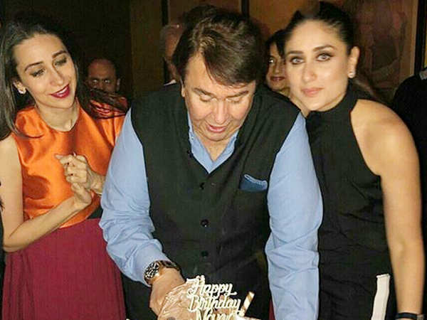 Photos: Karisma Kapoor and Kareena Kapoor Khan's grand birthday celebration for dad Randhir Kapoor
