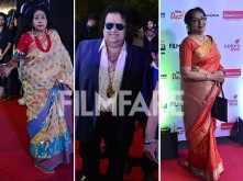 Sabitri Chatterjee, Bappi Lahiri & Mamata Shankar attend the Jio Filmfare Awards (East)
