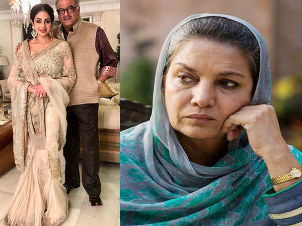 Shabana Azmi cancels her Holi party after the news of Sridevi's demise