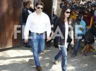 Madhuri Dixit and Sriram Nene visit Anil Kapoor's residence to meet Sridevi's daughters