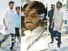 Sanjay Kapoor, Mohit Marwah, Harshvardhan Kapoor arrive at Sridevi's funeral