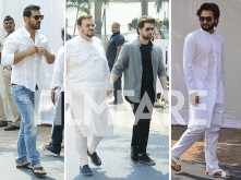 John Abraham, Neil Nitin Mukesh and Jackky Bhagnani arrive to pay their final respects late Sridevi