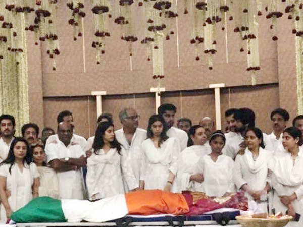 The final goodbye: Sridevi's mortal remains are being taken for the funeral