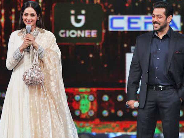 Good friend Salman Khan mourns the untimely demise of Sridevi