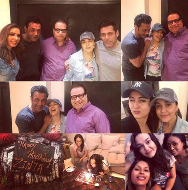 Salman khan surprises Preity Zinta on her birthday