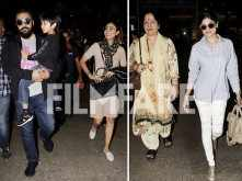 Shilpa Shetty Kundra, Raj Kundra, Shamita Shetty and family spotted at the airport
