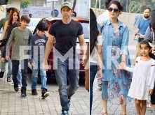 Hrithik Roshan, Sussanne Roshan and Twinkle Khanna spend quality time with their kids