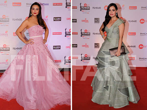 In Pictures: Preity Zinta and Dia Mirza look dreamy at the 63rd Jio Filmfare Awards