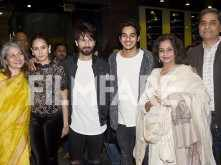 Shahid Kapoor attends the screening of Padmaavat with wife Mira Kapoor and his family