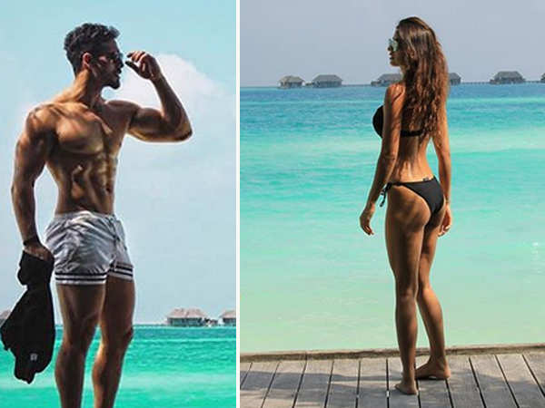Disha Patani and Tiger Shroff flaunt their picture perfect bodies