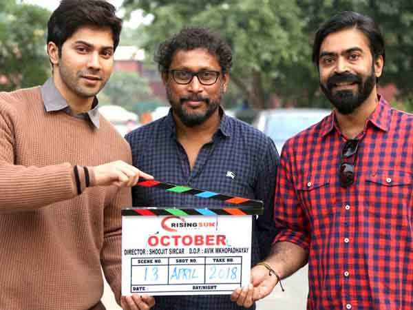 Varun Dhawan shoots for October's promotional campaign