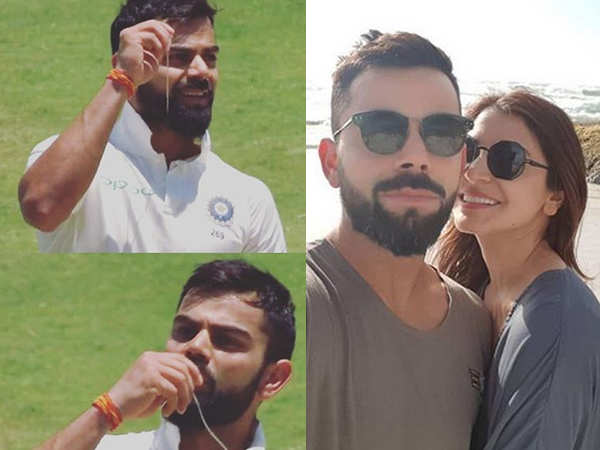 Virat Kohli's gesture for Anushka Sharma after hitting more than a ton is priceless