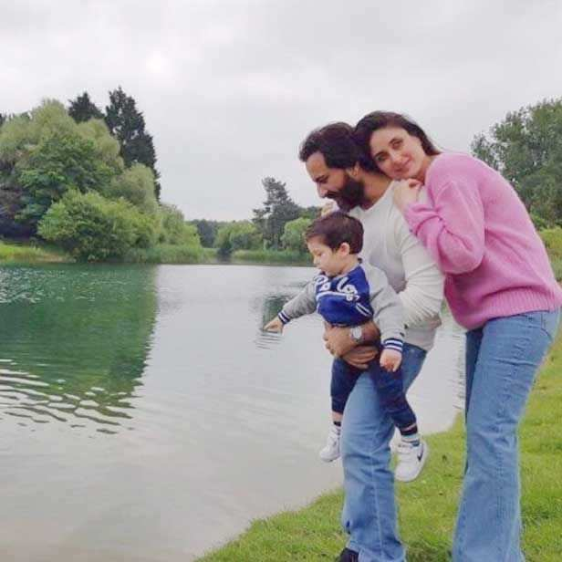 Saif with family