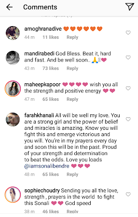 Bollywood stars send prayers to Sonali Bendre for her battle with cancer
